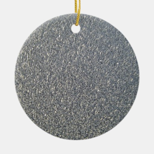 Grey fabric Texture Double-Sided Ceramic Round Christmas Ornament