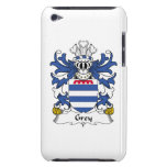 Grey Family Crest Barely There iPod Cases