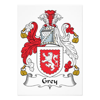Grey Family Crest Custom Announcements