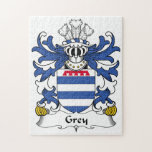 Grey Family Crest Jigsaw Puzzles