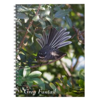 Grey Fantail Spiral Notebook