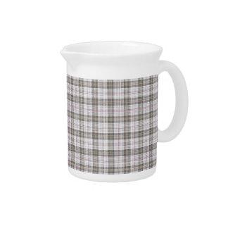 Grey fashion tartan drink pitcher