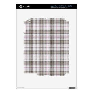 Grey fashion tartan plaid decal for iPad 3