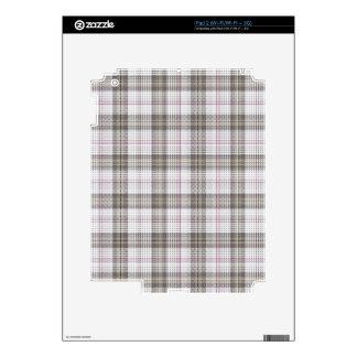 Grey fashion tartan plaid decal for the iPad 2
