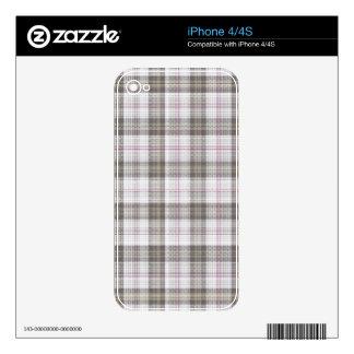 Grey fashion tartan plaid iPhone 4 skins