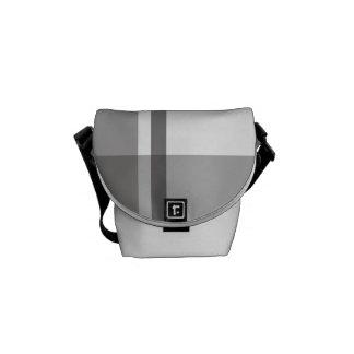 Grey Flannel Pattern Messenger Bag