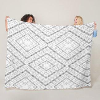 Grey Fleece Blanket Large