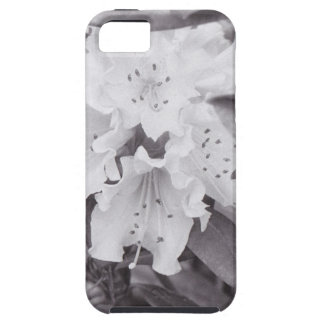 Grey Floral on a tough iPhone 5 Case