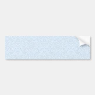Grey floral on light blue background bumper sticker