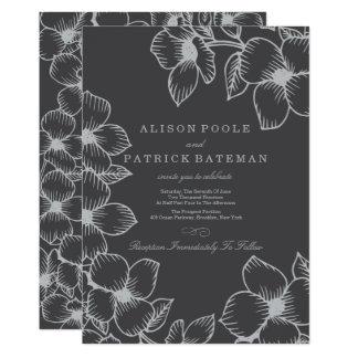Floral Invitation for Garden Wedding