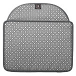 Grey Flower Argyle Pattern Macbook Pro With Flap Sleeves For MacBook Pro