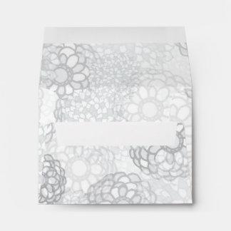 Grey Flower Burst Design Envelope