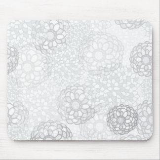 Grey Flower Burst Design Mouse Pad