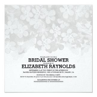 Grey Flowers Bridal Shower Invitations Custom Invitations