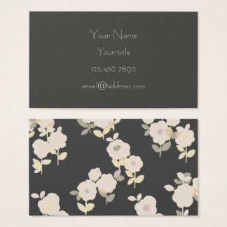 Grey, Flowers Business Card