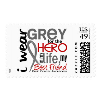 Grey For My Hero 2 Best Friend Brain Cancer Postage