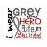 Grey For My Hero 2 Best Friend Brain Cancer Postcards