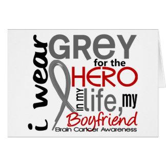 Grey For My Hero 2 Boyfriend Brain Cancer Card