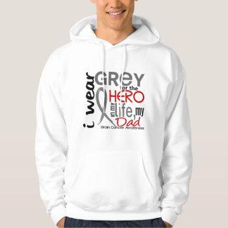 Grey For My Hero 2 Dad Brain Cancer Hoodie