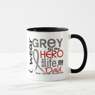 Grey For My Hero 2 Dad Brain Cancer Mug