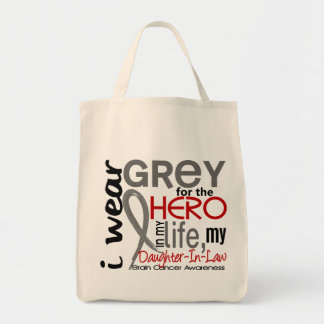 Grey For My Hero 2 Daughter-In-Law Brain Cancer Tote Bag