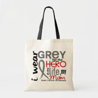 Grey For My Hero 2 Mom Brain Cancer Tote Bag