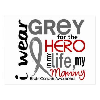 Grey For My Hero 2 Mommy Brain Cancer Postcard