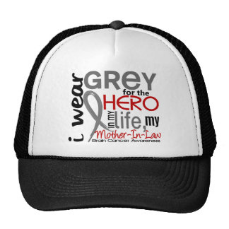 Grey For My Hero 2 Mother-In-Law Brain Cancer Hats