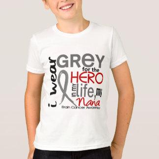Grey For My Hero 2 Nana Brain Cancer T-Shirt