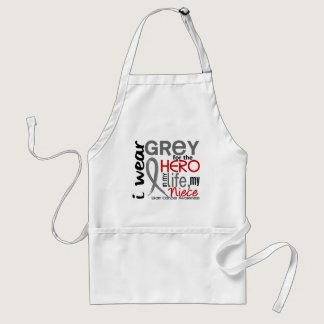 Grey For My Hero 2 Niece Brain Cancer Adult Apron