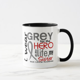Grey For My Hero 2 Sister Brain Cancer Mug