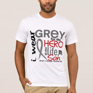 Grey For My Hero 2 Son Brain Cancer T-Shirt