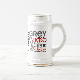 Grey For My Hero 2 Son-In-Law Brain Cancer Beer Stein