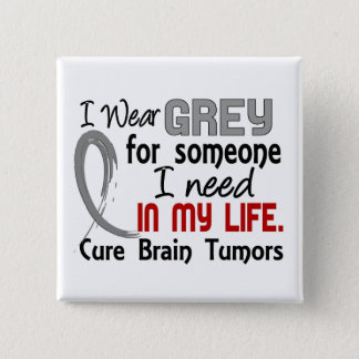 Grey For Someone I Need Brain Tumors Pinback Button