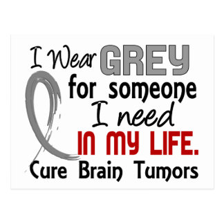 Grey For Someone I Need Brain Tumors Postcard