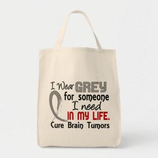 Grey For Someone I Need Brain Tumors Tote Bag
