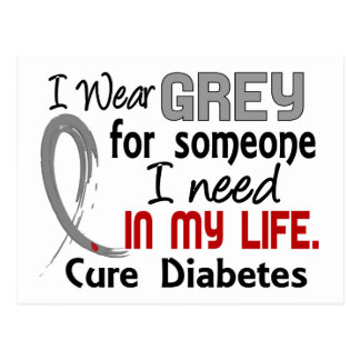Grey For Someone I Need Diabetes Postcard