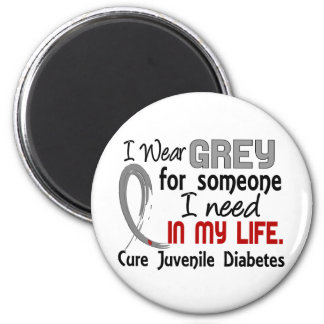 Grey For Someone I Need Juvenile Diabetes 2 Inch Round Magnet