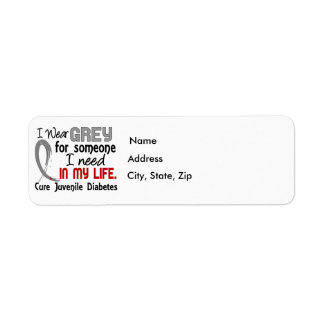 Grey For Someone I Need Juvenile Diabetes Label
