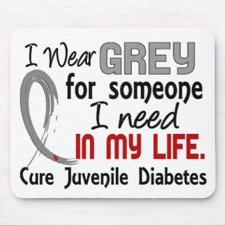 Grey For Someone I Need Juvenile Diabetes Mousepad
