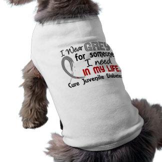 Grey For Someone I Need Juvenile Diabetes Pet T Shirt