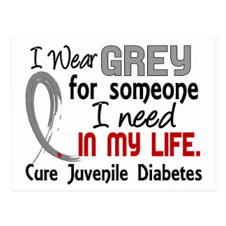 Grey For Someone I Need Juvenile Diabetes Postcard