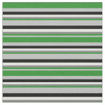 [ Thumbnail: Grey, Forest Green, Gray, White & Black Colored Fabric ]