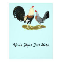 Grey Game Fowl Pair Flyer