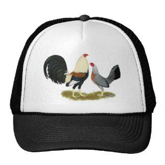 Grey Game Fowl Pair Trucker Hats