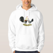 Grey Game Fowl Pair Hoodie