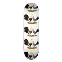 Grey Game Fowl Pair Skateboard Deck