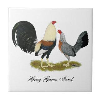 Grey Game Fowl Pair Tile