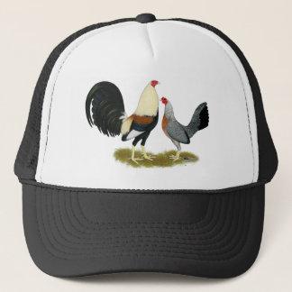 Grey Game Fowl Pair Trucker Hat