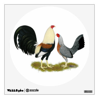 Grey Game Fowl Pair Wall Decal